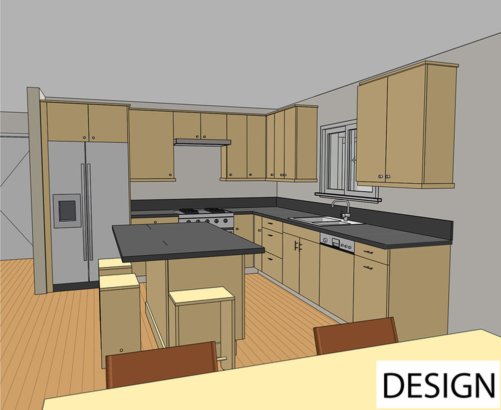 Pre-Construction Kitchen  Illustration