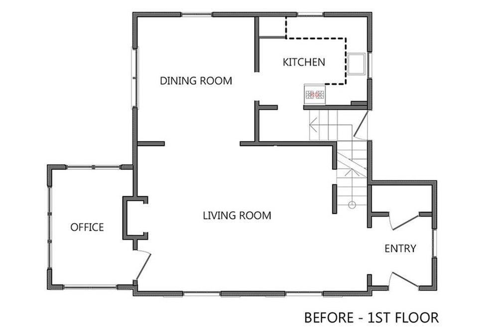 First Story PRE-  CONSTRUCTION Floor Plan