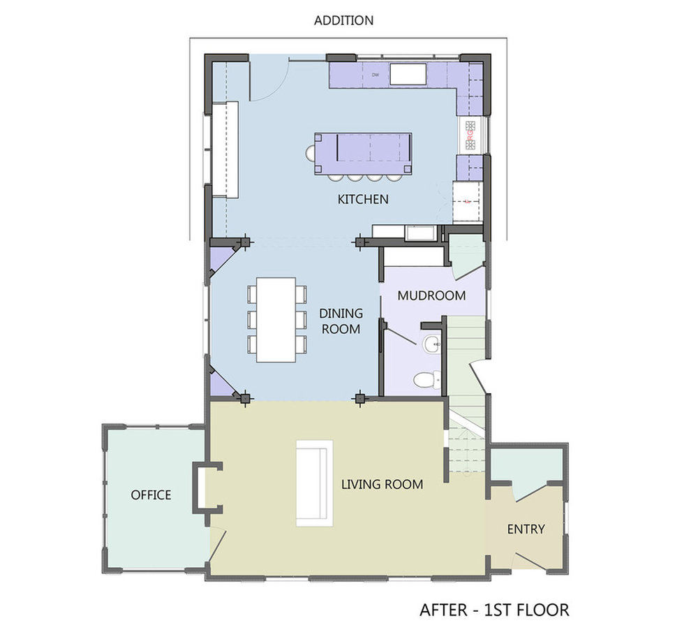FIRST STORY Redesigned   FLOOR PLAN