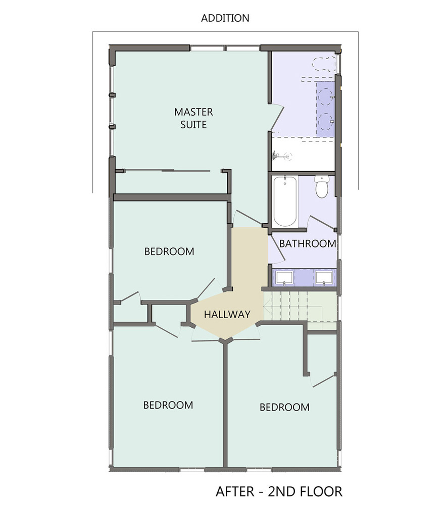 Second STORY REDESIGNED   FLOOR PLAN