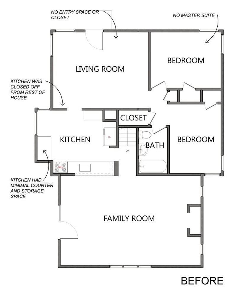 Pre-existing Floor Plan Home Addition