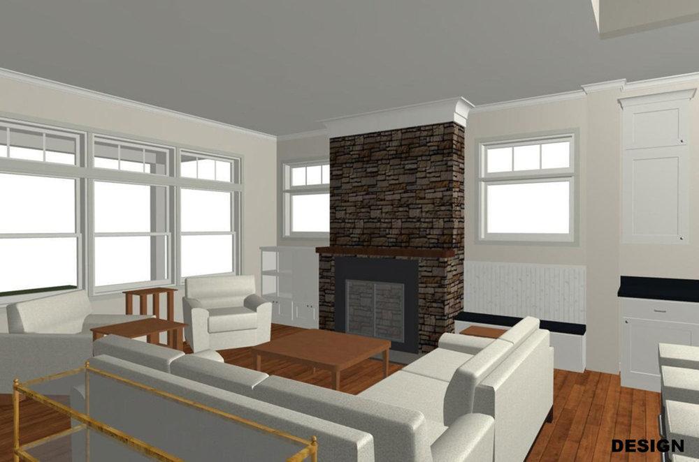 PRE-CONSTRUCTION Living Room ILLUSTRATION