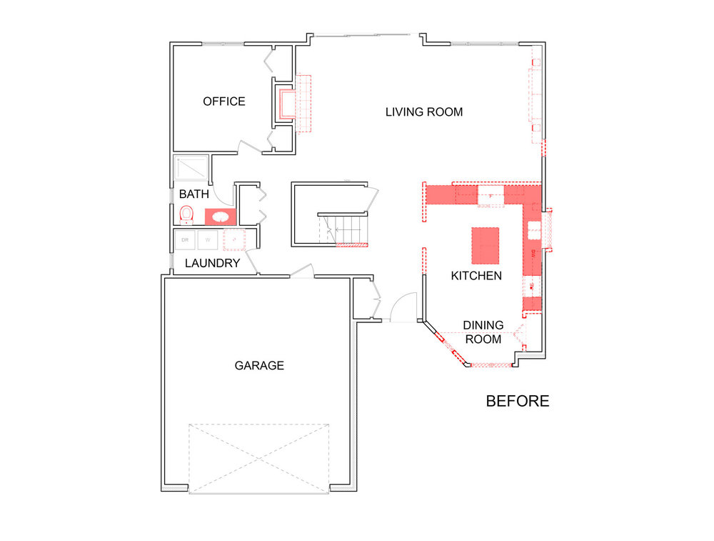 Floor Plan Before Design and Remodel