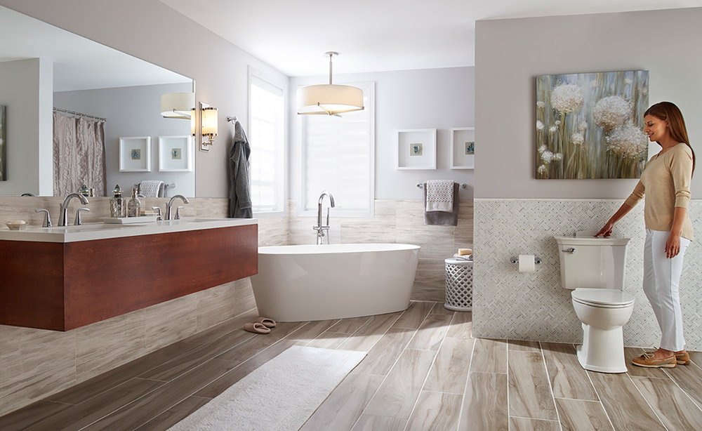 Self cleaning toilets for master suite bathrooms