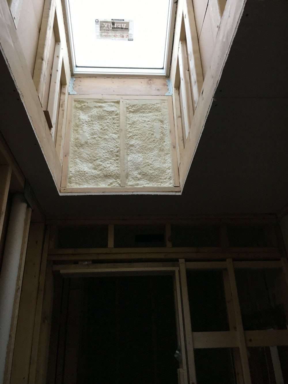 Skylight insulation detail
