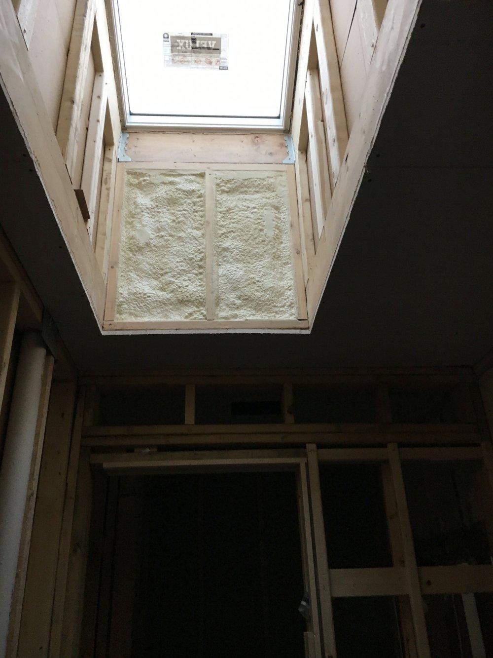 Skylight insulation detail