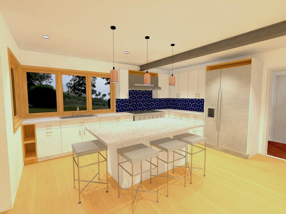 Rendering of kitchen remodel