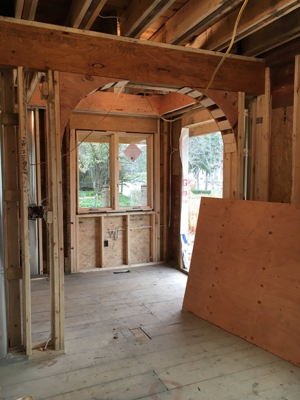 Framing an arched doorway