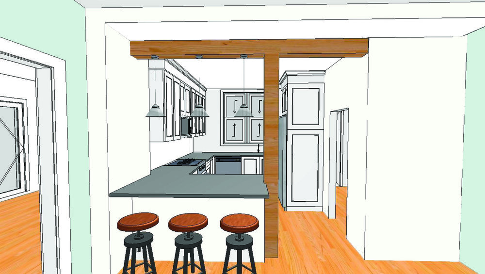 Kitchen Design Rendering