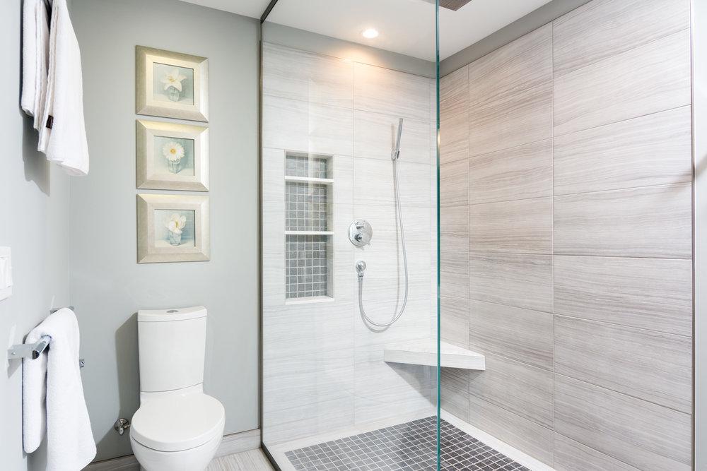 Doorless Shower Master Bath Remodeling