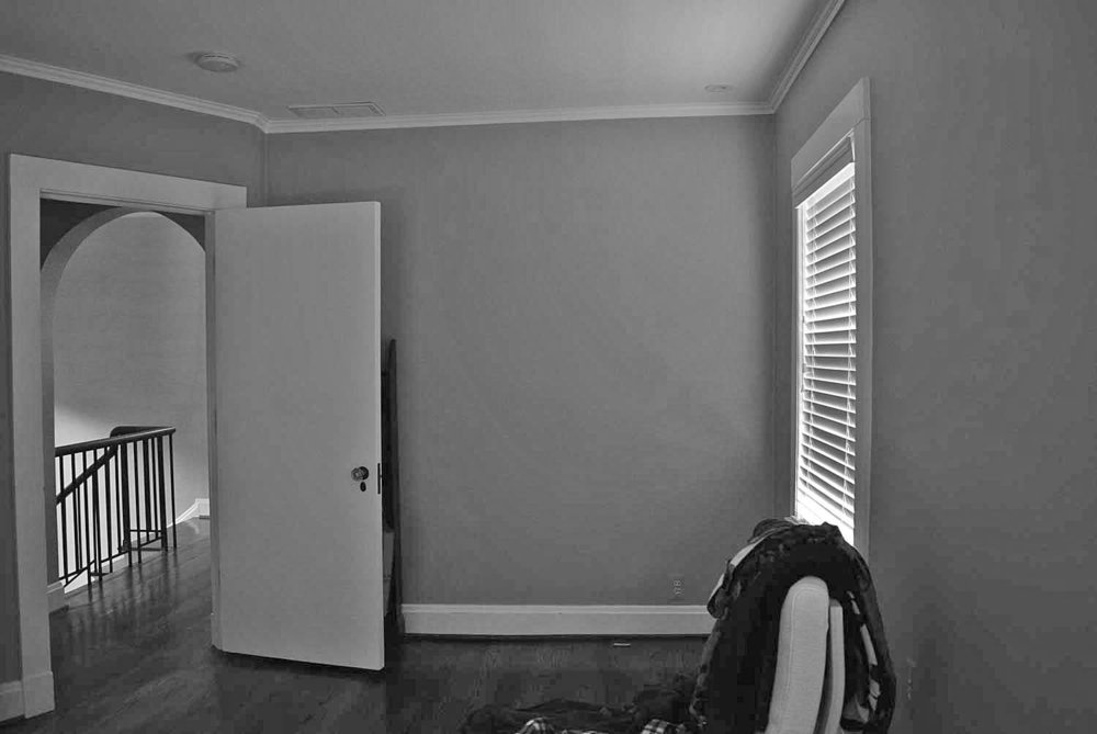 Before -    bedroom to be Converted to Master Bath