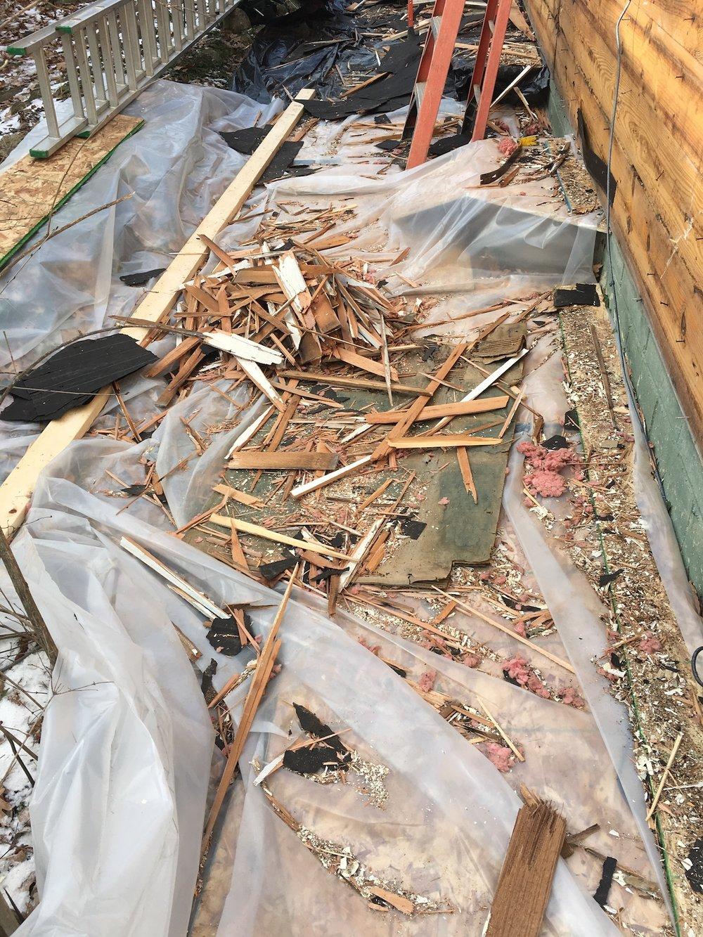 Debris from Demolition