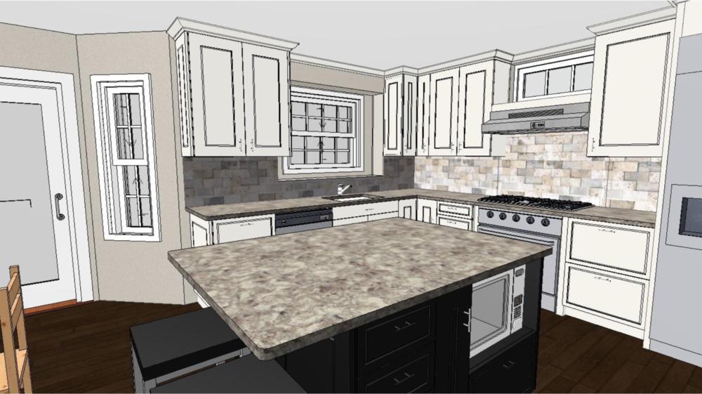 design rendering - kitchen