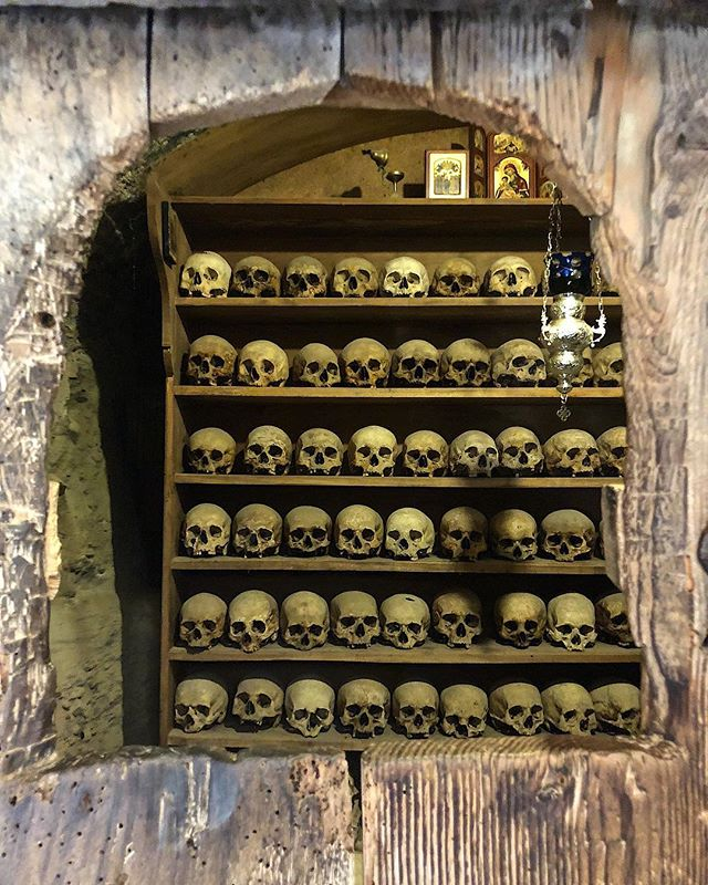 The Ossuary, at Holy Meteora #inspired 🔥