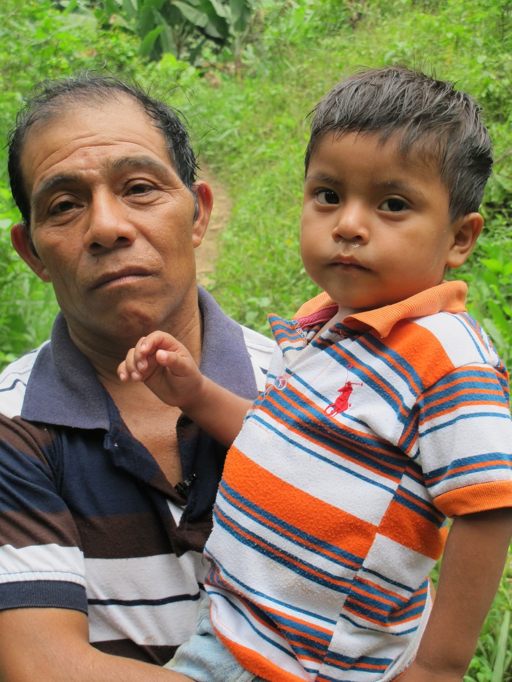 Francisco and his son Benjamin, who was kidnapped.