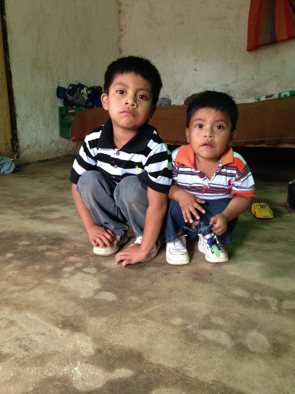 Mardoqueo and Benjamin who were kidnapped with their mother Micaela Saquic.