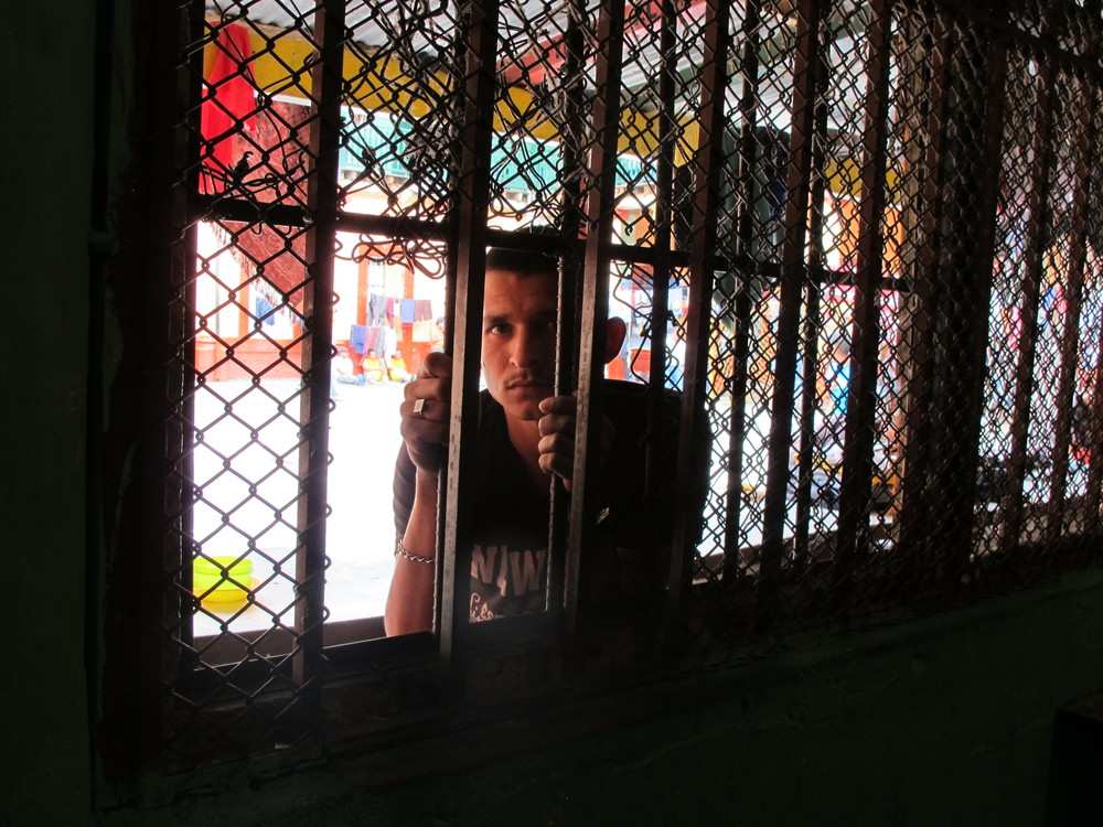 Inmate in the jail of Quetzaltenango.