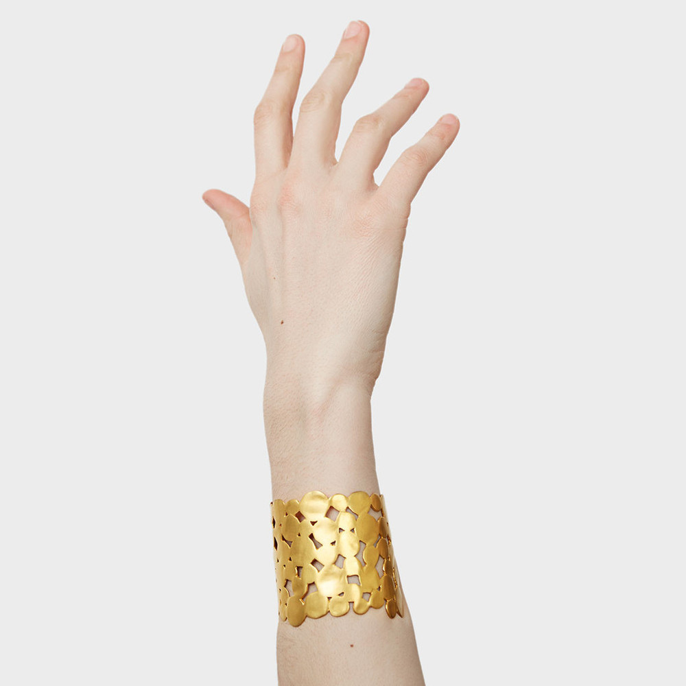 L. A. Cano at DARA Artisans - Interconnected Gold Cuff Bracelet $250