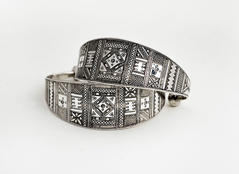 Tuareg Jewelry at DARA Artisans - Traditional Silver Cuff $265