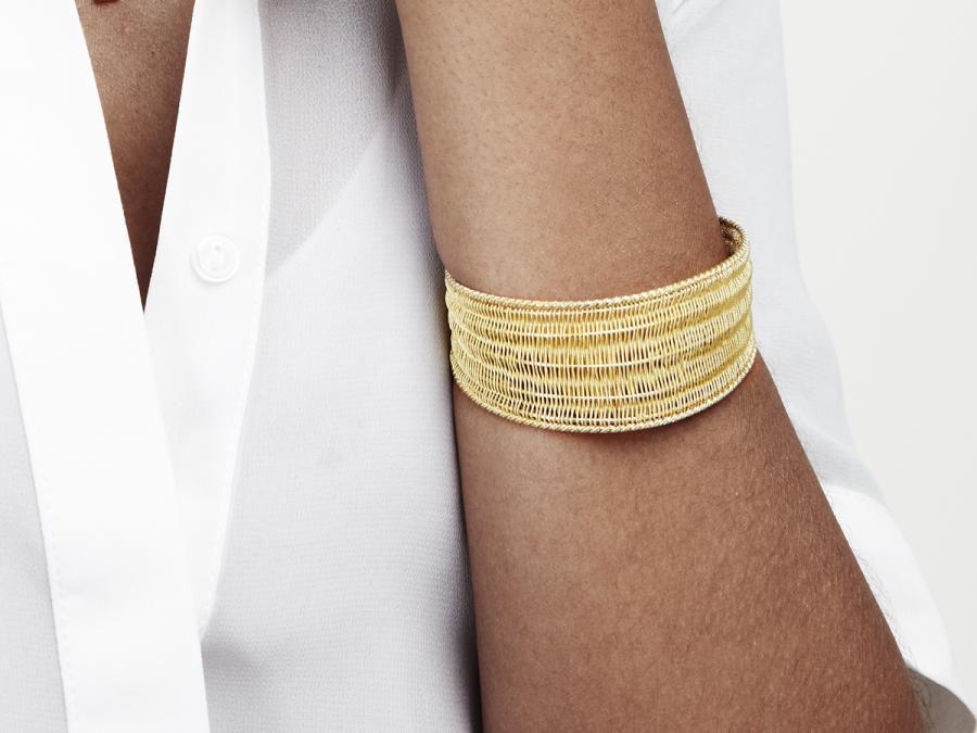 Kokku - Gold Tessuto Bracelet £2031