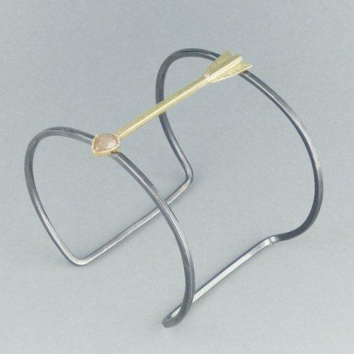 Keri Ataumbi - Oxidised Sterling Silver Cuff $2300