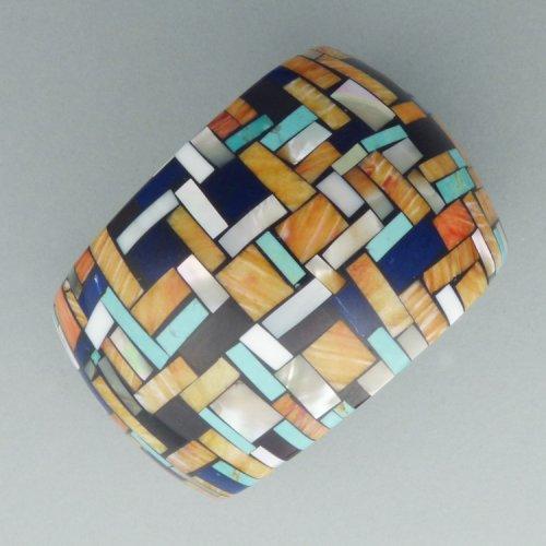 Charlene Reano - Clam Shell Mosaic Cuff $2000