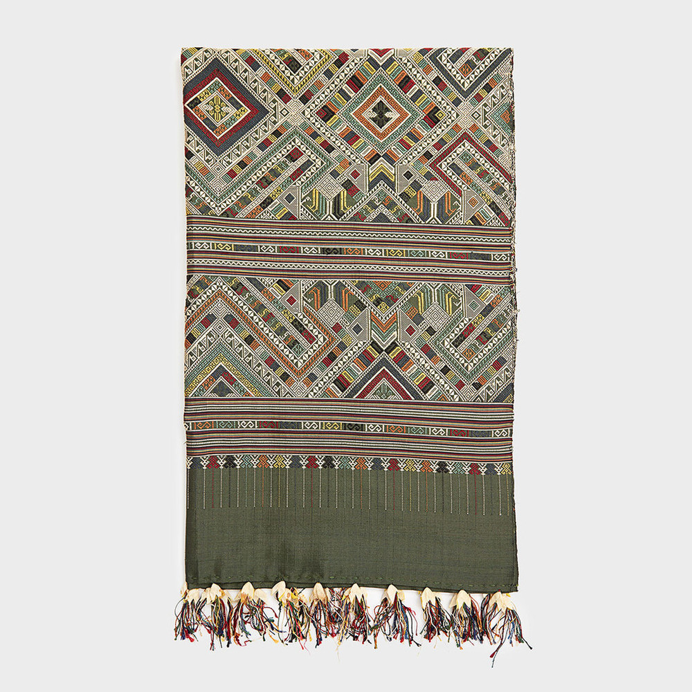 Green Ceremonial Wedding Blanket