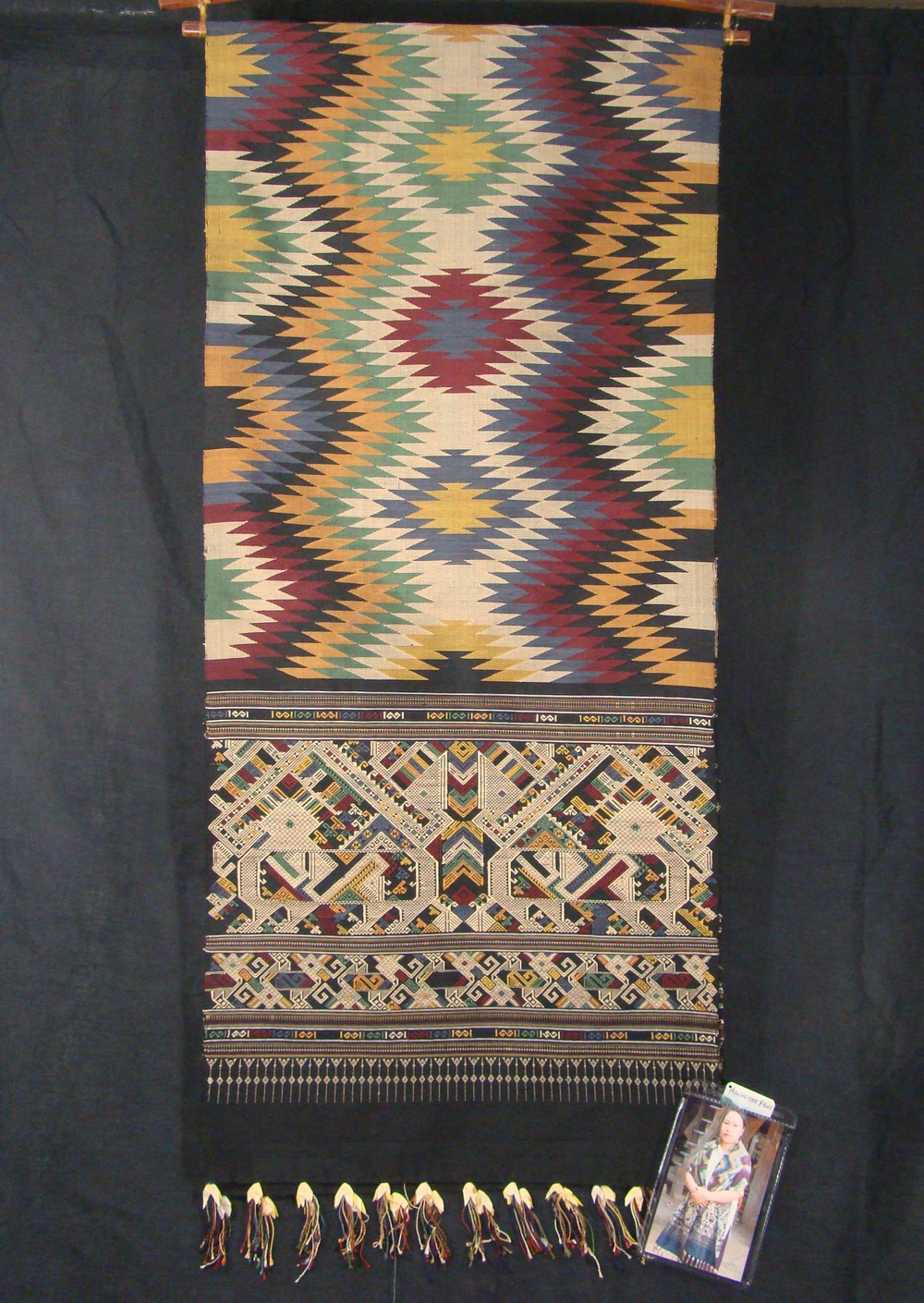 Black Tapestry Weave and Siho Cloth