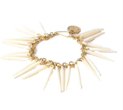 White Quill Bone Bracelet