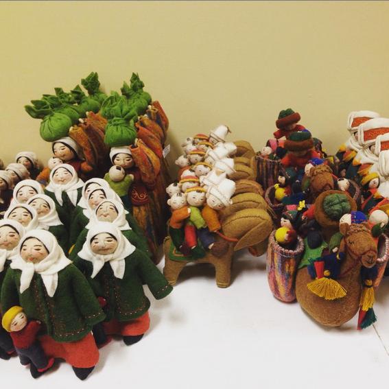 Felt dolls by Erkebu Djumagulova, Kyrgyzstan