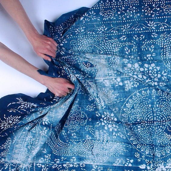 Vintage nankeen fabric