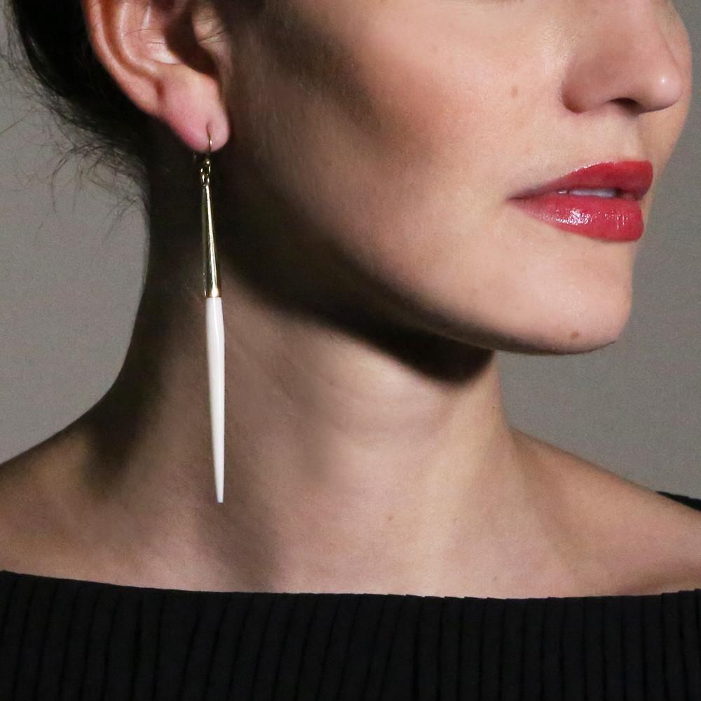 Capped Dangle Earrings