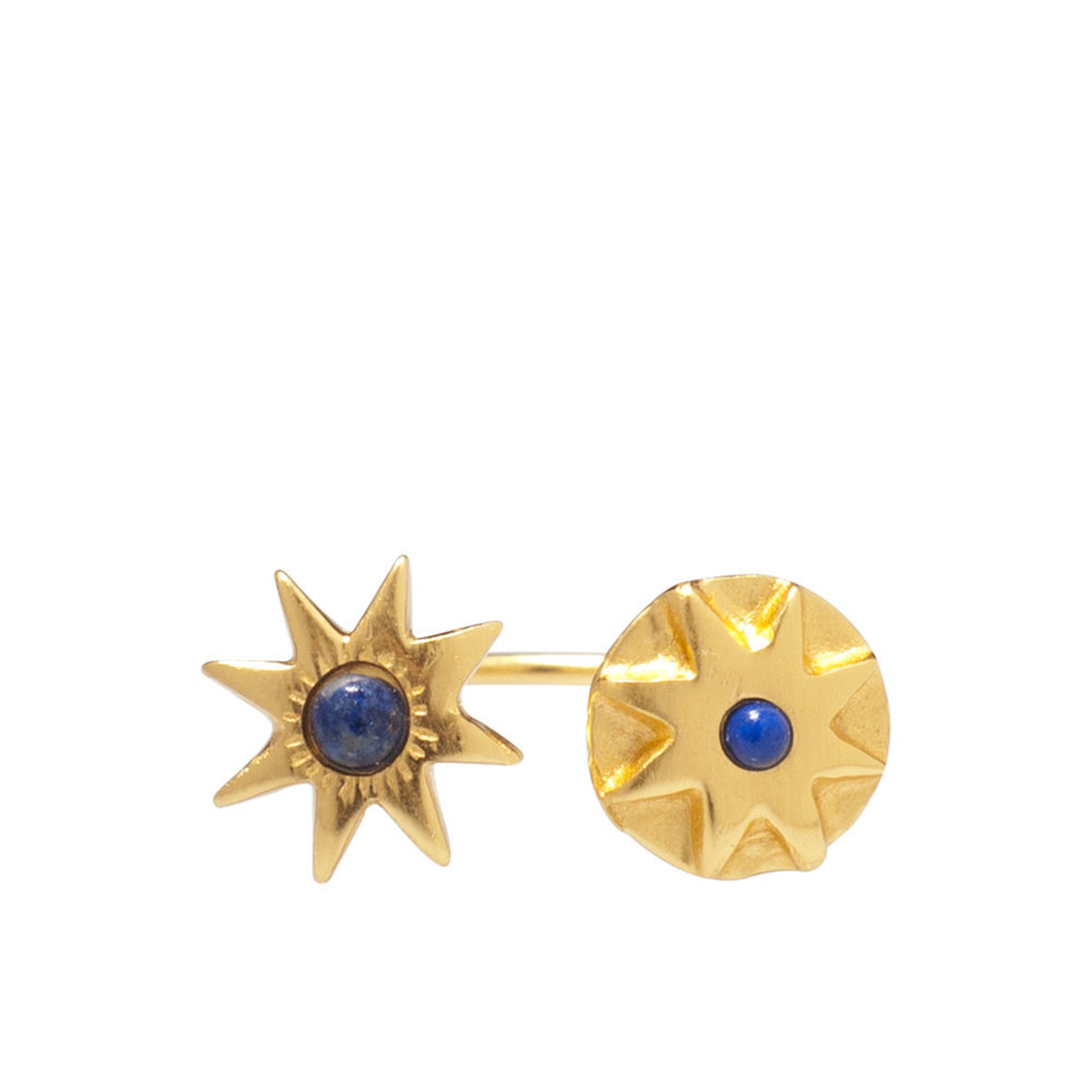 Double Star Lapis Ring