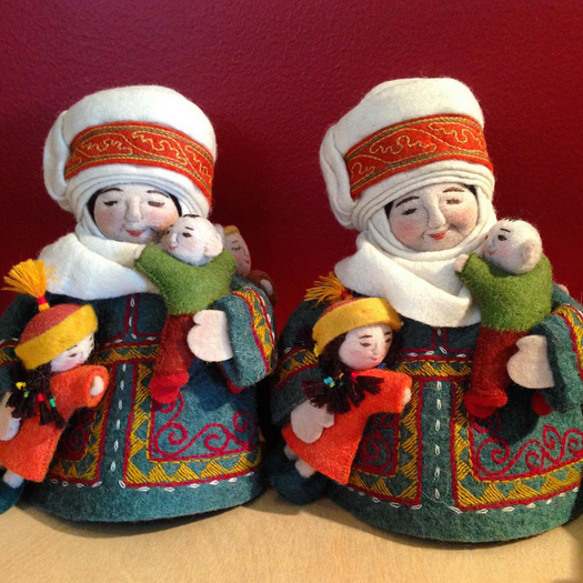 IFAM ONLINE    @ifamonline    Kyrgyz felt dolls