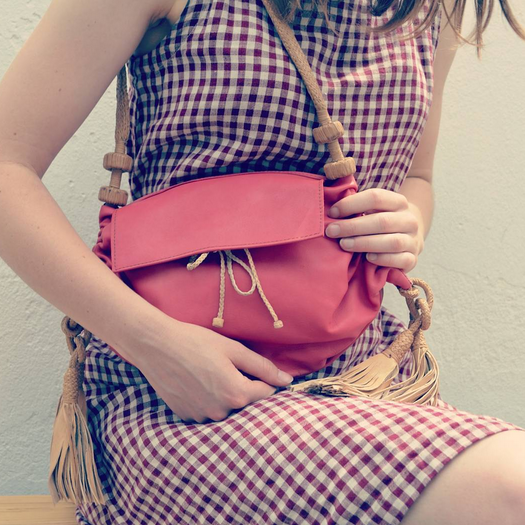 SAHEL    @saheldesign    Raspberry pouch bag
