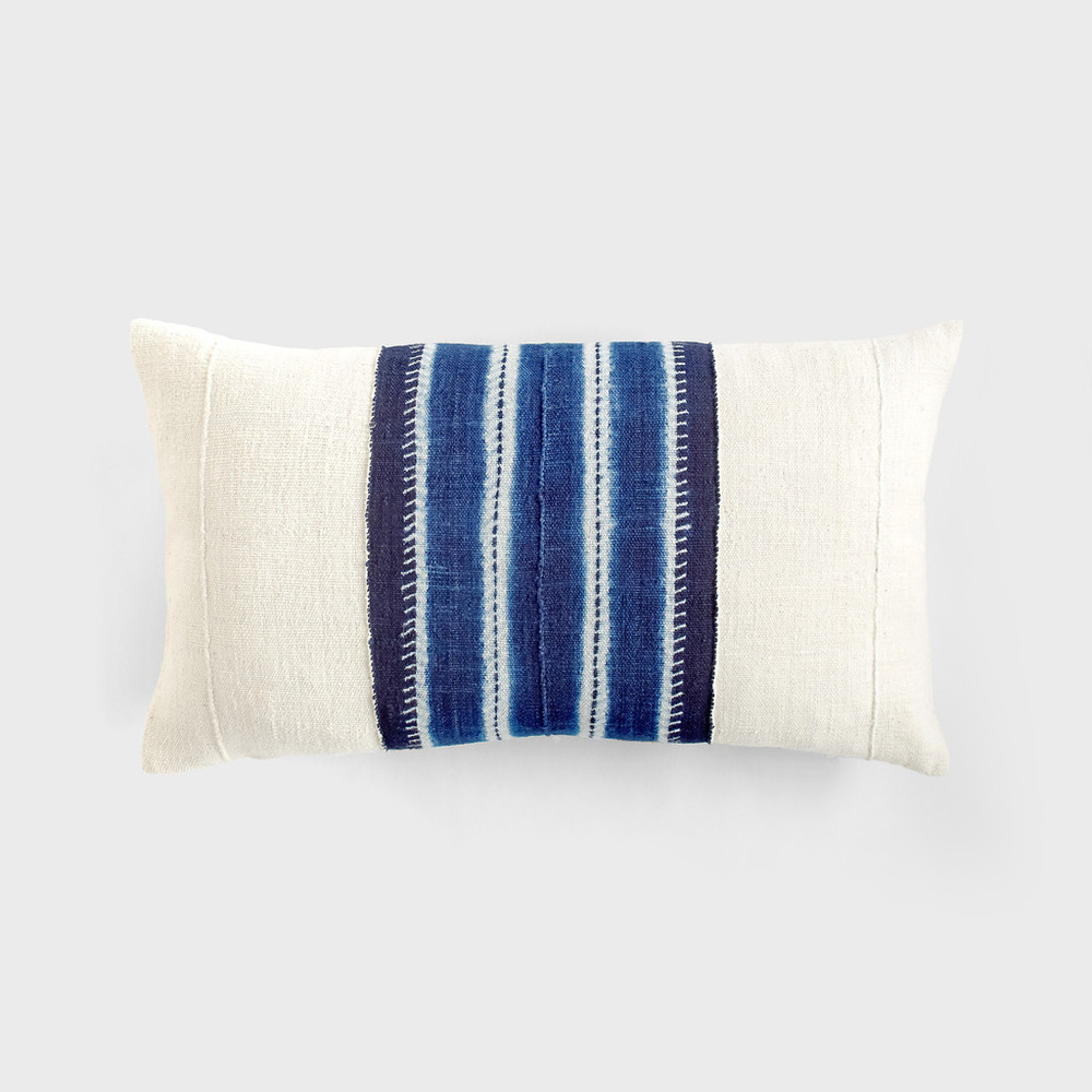 Stitch Resist Lumbar Pillow by Aboubakar Fofana