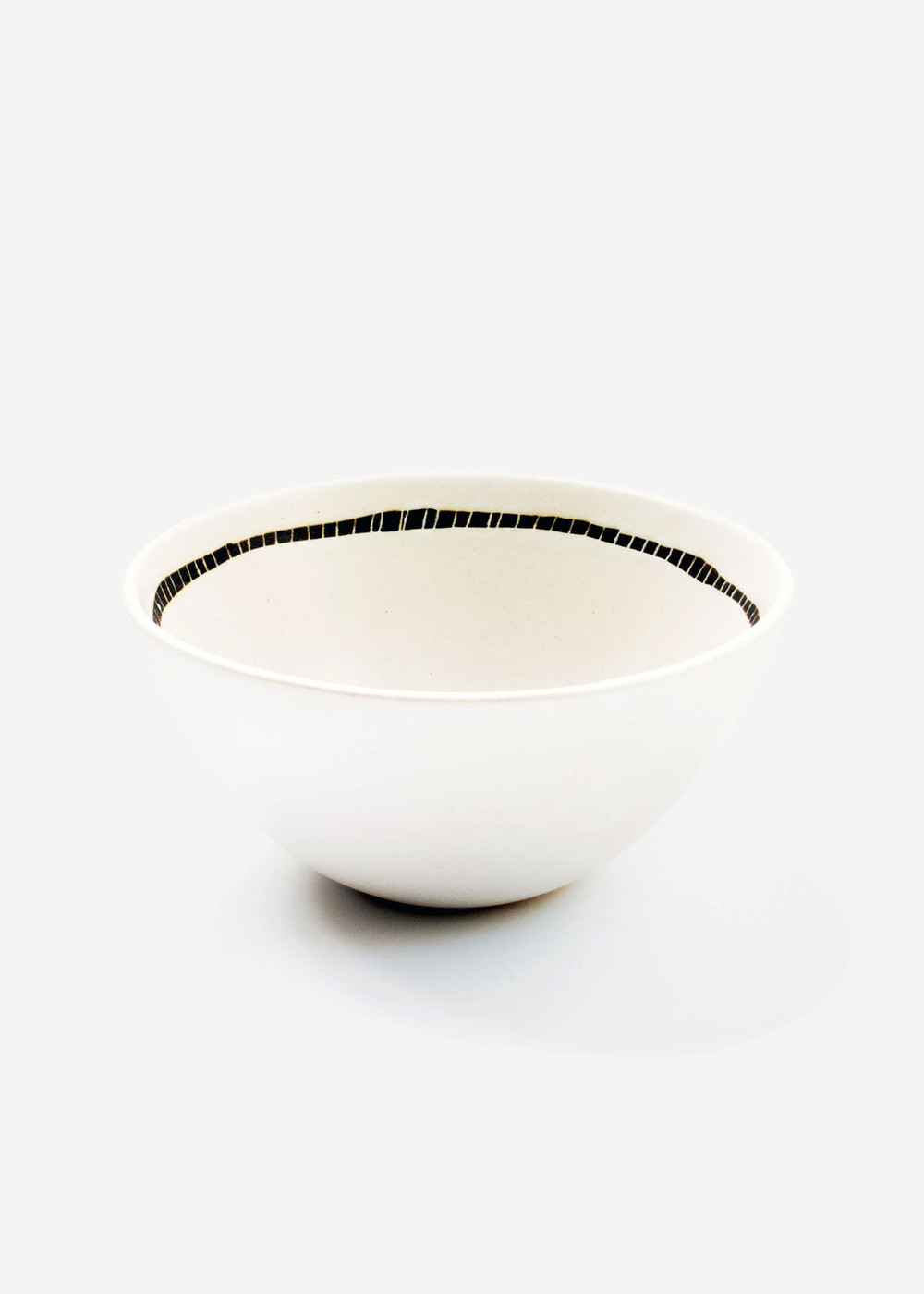Ivory Tracks Rice Bowl