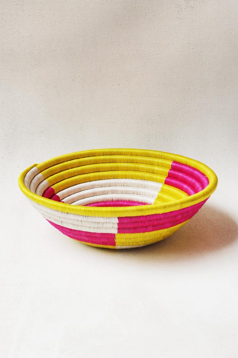 Pink & Yellow Block Plateau Basket