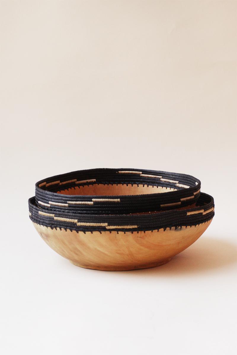 Copabu Wooden Jumbo Fruit Bowl - Black