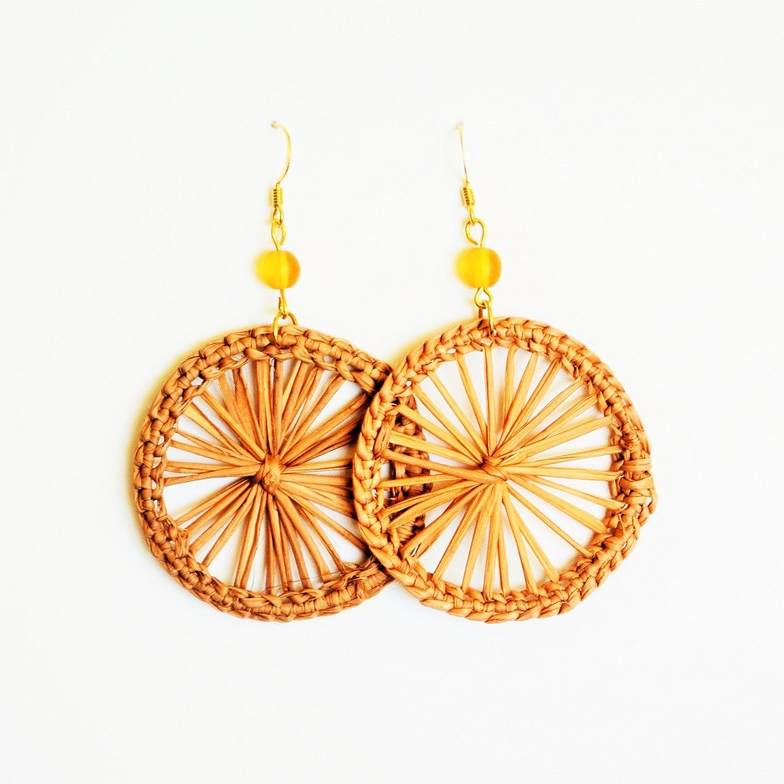 Dreamcatchers Straw Filigree Earrings
