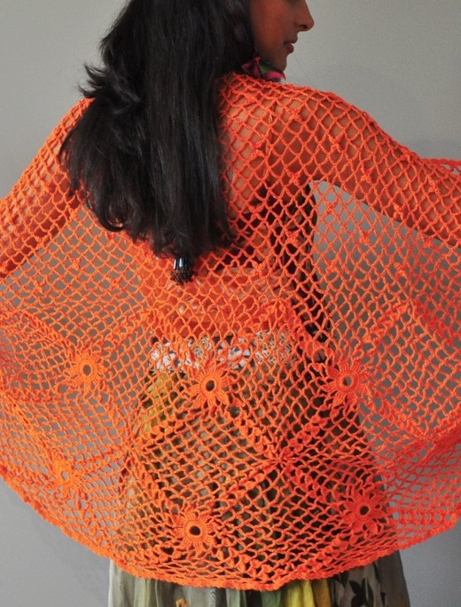 Wanderer Hand Crocheted Shawl