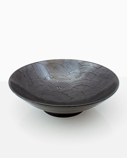 Aranami Black Wave Serving Dish