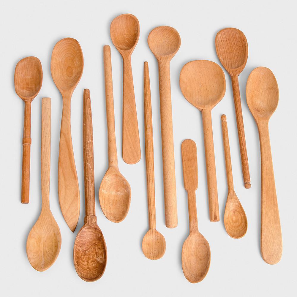Baker's Dozen Large Wooden Spoons