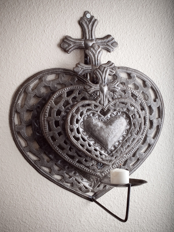 Triple Hearts Wall Sconce