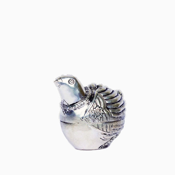 Khmer Silver Plated Quail Box