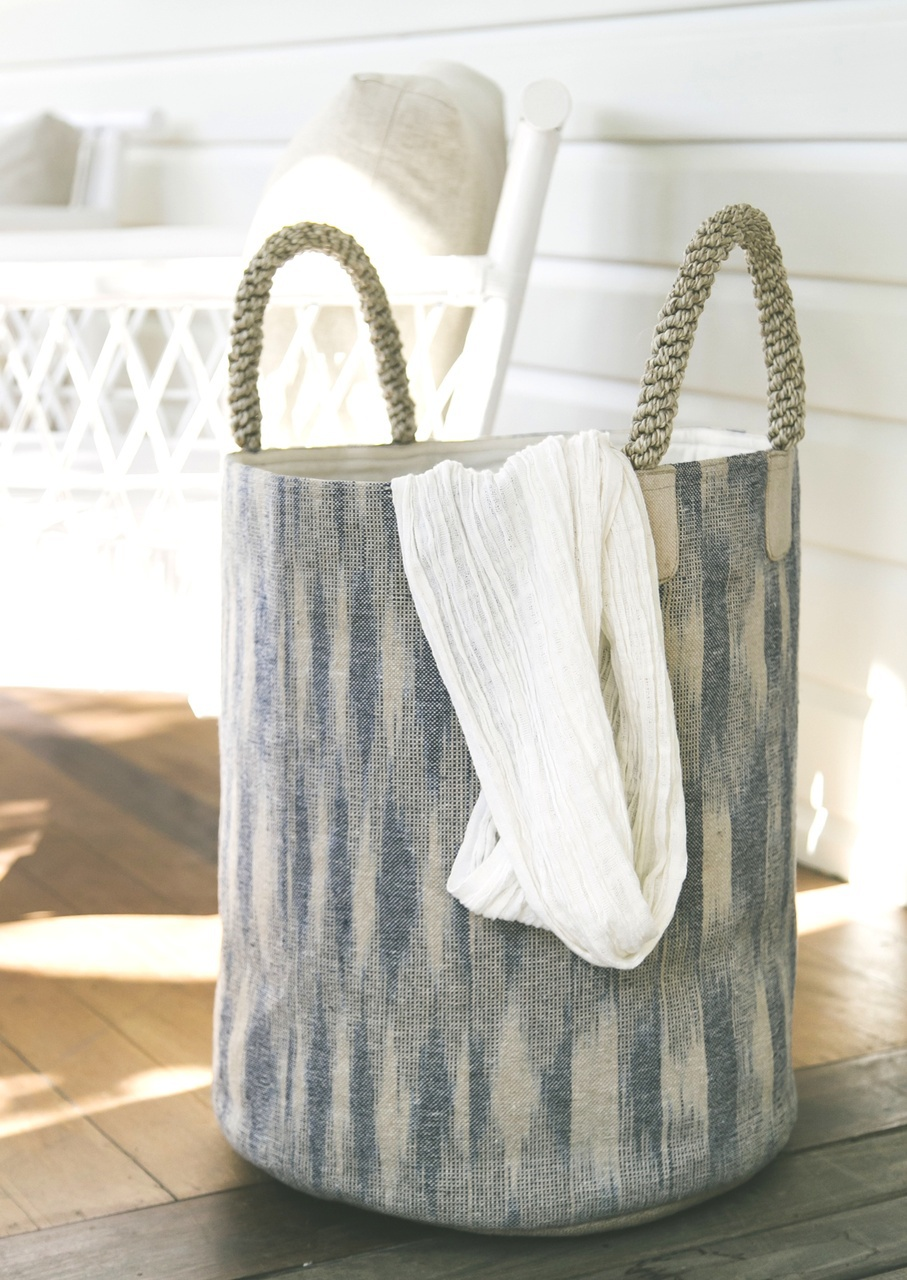Ikat Pacific Laundry Basket