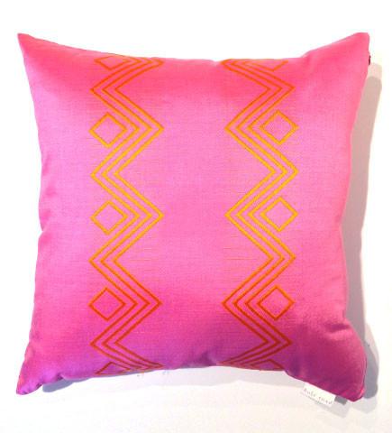 Lavatera Pink Zig-Zag Pillow