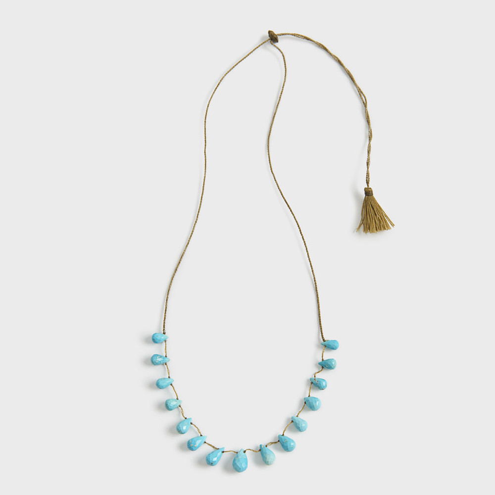 Floating Turquoise Drops Necklace