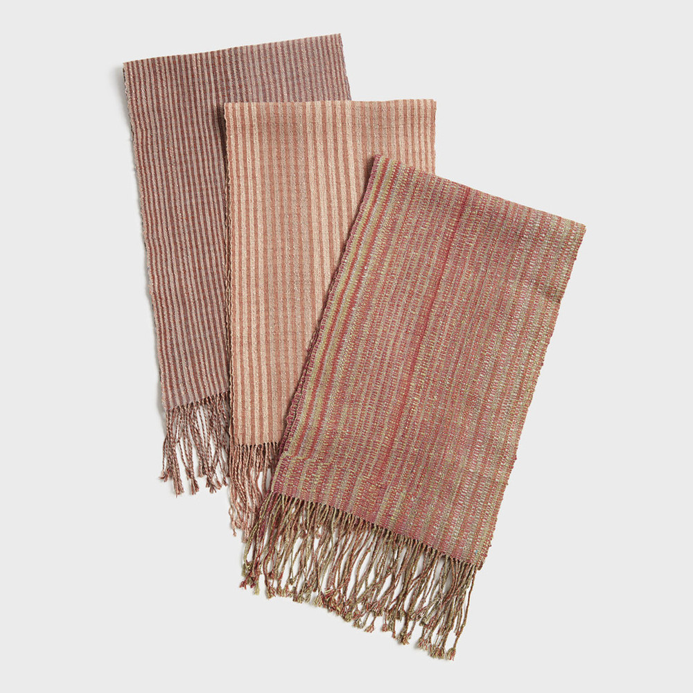 Carnelian Striped Scarf