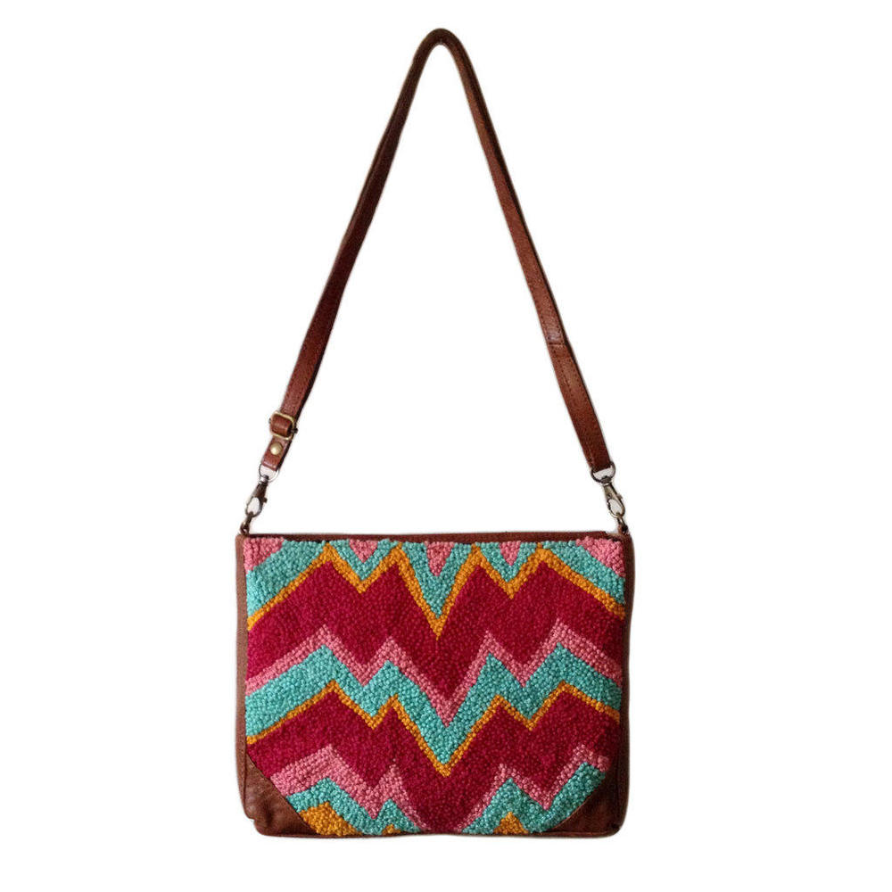 Electric Chevron Knotted Sling Bag